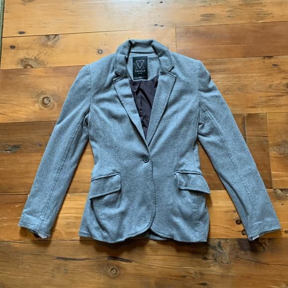 Talula Jackets & Blazers - Talula Grey Cotton Blazer size 6